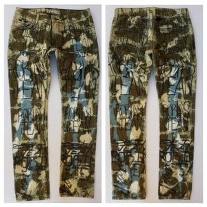 NEW MENS ROBINS JEANS Slim Straight GRAFFITI Jeans
